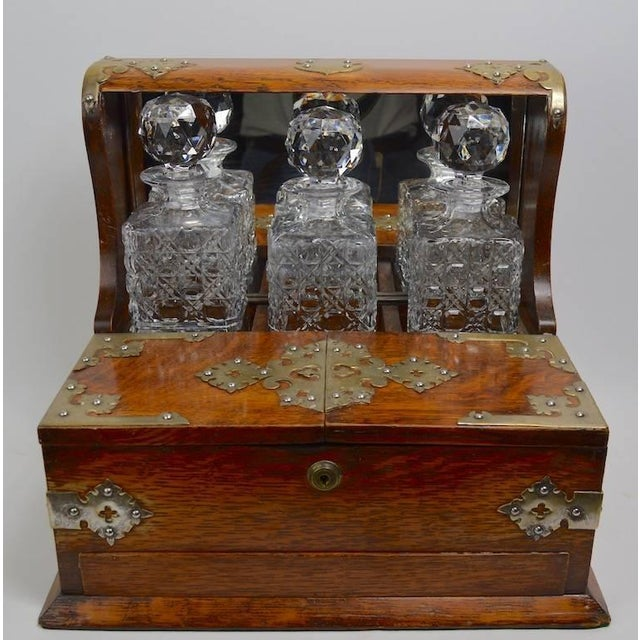 Mid 19th Century English Tantalus by Branah London - 4 Pieces For Sale - Image 4 of 12