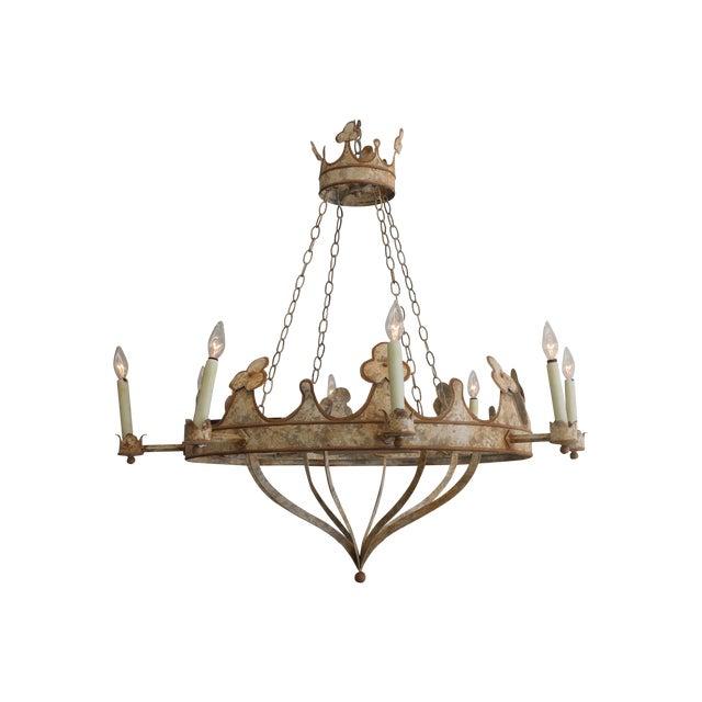 Handmade & Hand Painted Crown Chandelier - Image 1 of 6