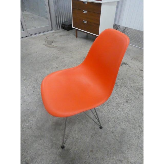 Orange 8 Orange Herman Miller Eames Office Eiffel Tower Chairs For Sale - Image 8 of 10