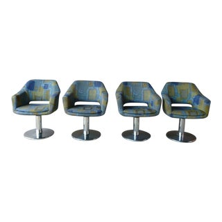 1970's Space Age Jetsons Mod Captains Chairs - Set of 4 For Sale