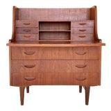 Image of Kids Vintage Danish Mid Century Modern Secretary Desk For Sale