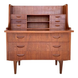 Kids Vintage Danish Mid Century Modern Secretary Desk For Sale
