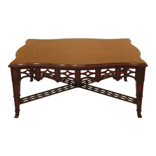 1990s Traditional Henkel Harris Model Mahogany Coffee Table For Sale