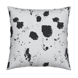 Splat Reverse Carbon Pillow by Kerri Rosenthal