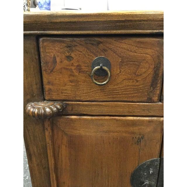 Vintage Wooden Asian Cabinet - Image 5 of 7 - Vintage Wooden Asian Cabinet Chairish