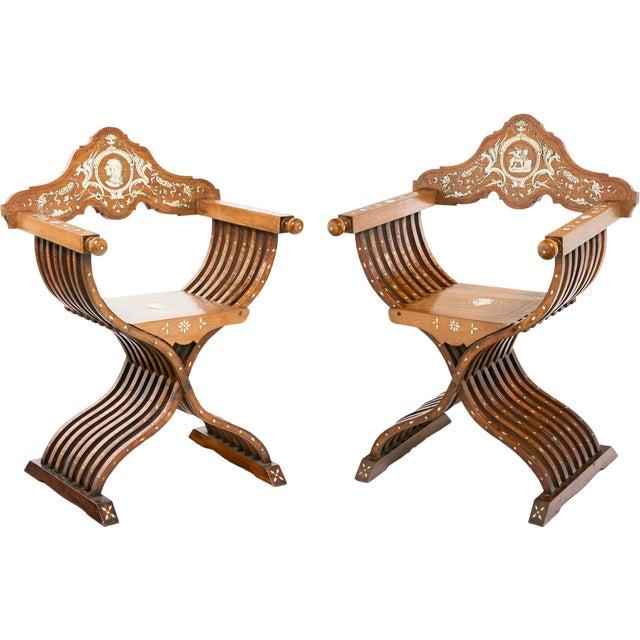 19th Century Savonarola Chairs - a Pair For Sale