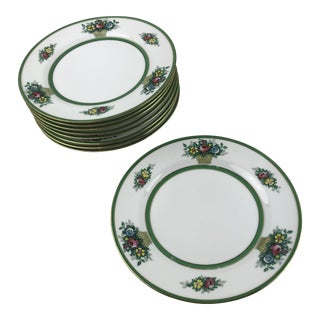 "Nine Limoges Ahrenfeldt 8.75"" Lunch Plates"