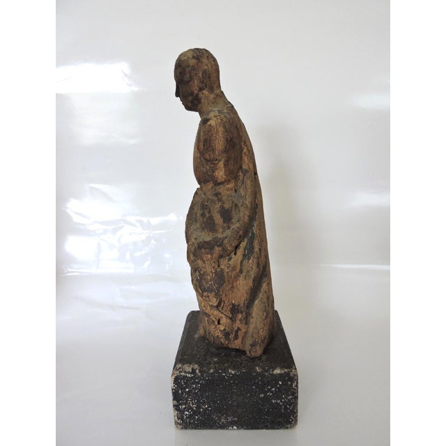 Carved Tables Philippines: Antique 18/19th C. Wooden Philippine Santos Statue