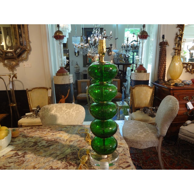 Murano Mid-Century Glass Table Lamps - A Pair - Image 5 of 6