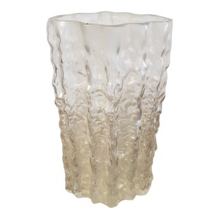 """Vintage """"Dripping Icicle"""" Glass Vase For Sale"""