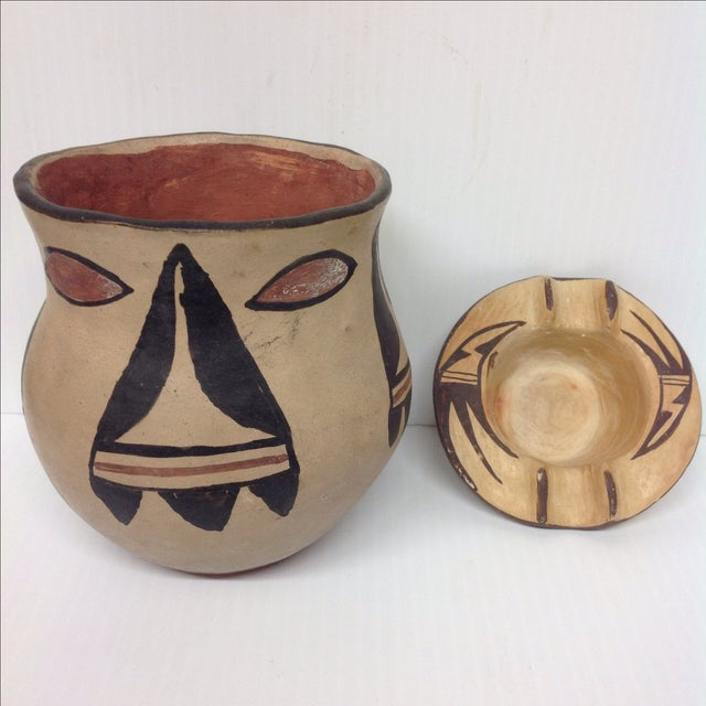 Mid-Century Indian Pottery Vase & Bowl - A Pair - Image 2 of 6