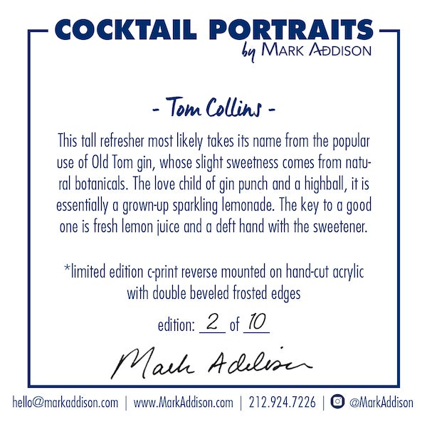 """Mark Addison's signature Cocktail Portraits are direct from the pages of his """"Best in the World"""" award-winning book..."""