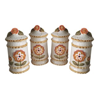 Vintage Shabby Chic Salt & Pepper Shakers For Sale