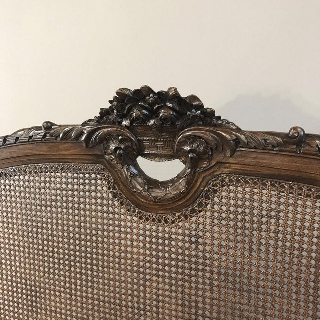 Modern 19th Century French Walnut Louis XVI Neoclassical Bed Ca. 1870 For Sale - Image 3 of 10