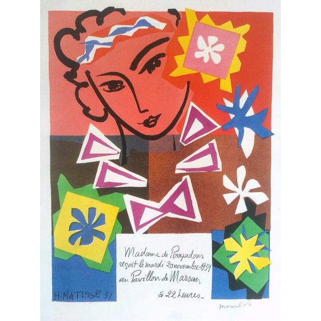 "Contemporary Henri Matisse Vintage 1989 Lithograph Print "" Bal Arts Decoratifs Mourlot "" 1951 For Sale - Image 3 of 10"