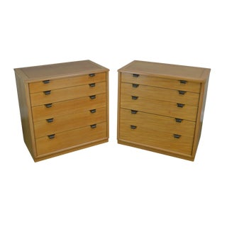 Edward Wormley for Drexel Precedent Pair of Mid Century Modern Chests (B) For Sale