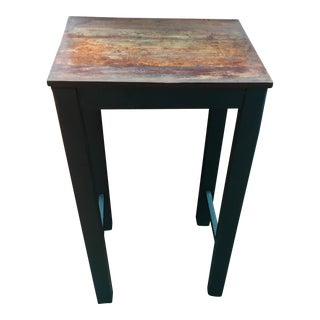 Distressed Wood Small Side Table