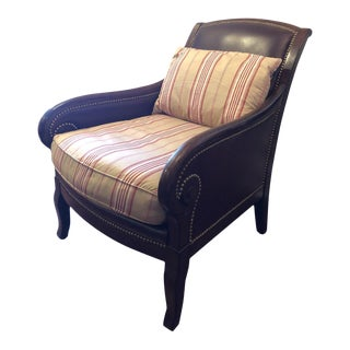 Late 20th Century Modern Leather Ralph Lauren Lounge Chair For Sale