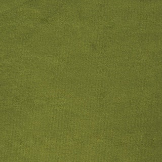Schumacher Empress Performance Velvet Fabric in Leaf For Sale