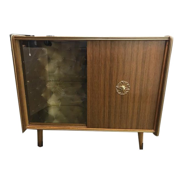 Vintage Mid-Century Modern Dry Bar For Sale