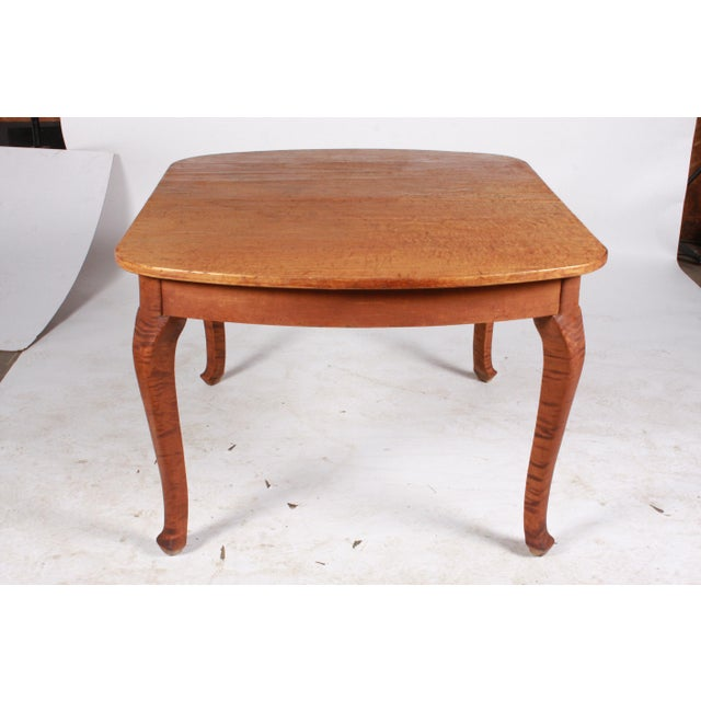 Tan Art Nouveau Swedish Dining Table For Sale - Image 8 of 9