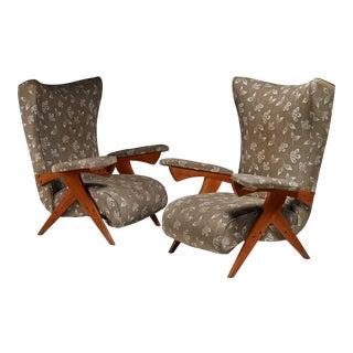 Jose Zanine Caldas pair of Cuca lounge chairs, Brazil, 1950s For Sale