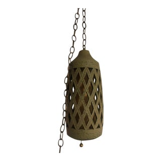 Mid-Century Modern Ceramic Swag Light Hanging Light For Sale