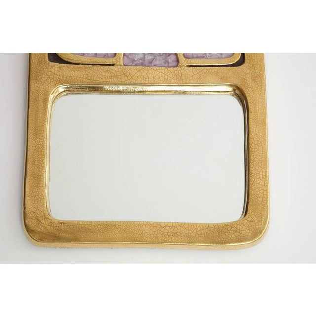 Mid-Century Modern Small Mirror by Francois Lembo For Sale - Image 3 of 6