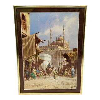 Late 19th Century Cairo Watercolor Painting by Edward Lord Weeks For Sale