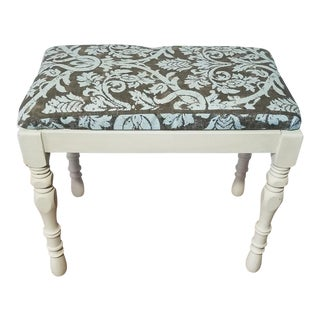 Cottage Chic Vanity Bench For Sale