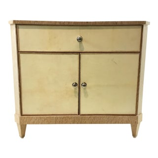Century Inlaid Parchment Bedside Chest/Nightstand For Sale