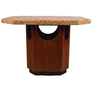 Octagonal Terrazzo Top Probber Table For Sale