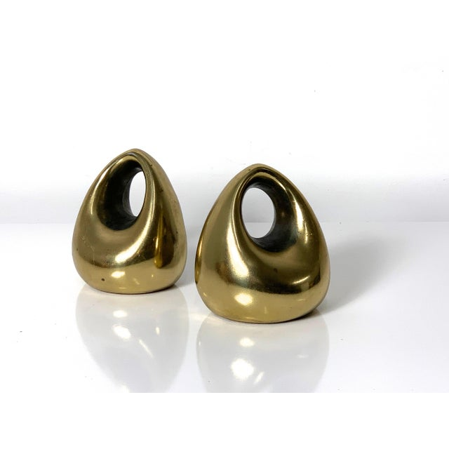 Collectible pair of bookends designed by Ben Seibel. They are By Jenfred Ware, and distributed by Raymor circa 1960's....