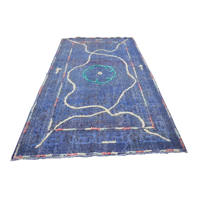 "Contemporary Turkish Handmade Rug - 9'6"" X 5'4"" For Sale"
