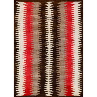 Antique Navajo Rug-3′3″ × 4′6″ For Sale