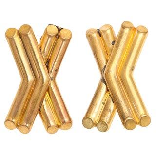 Paris X Form Earrings For Sale
