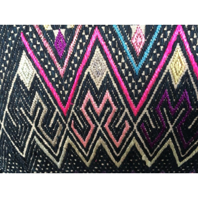 Antique Intricate Handwoven Tribal Textile Pillow - Image 7 of 9