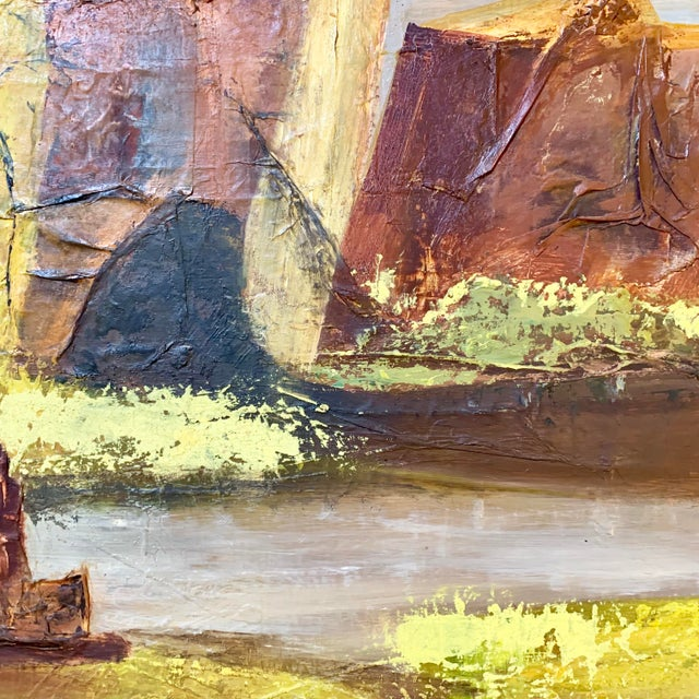 Brown Vintage Mid-Century Nell Hirschkind Landscape Painting For Sale - Image 8 of 12