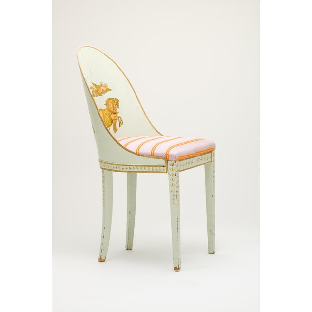 Early 20th Century Milton Textiles Neoclassical Appliqué Chair For Sale - Image 4 of 6