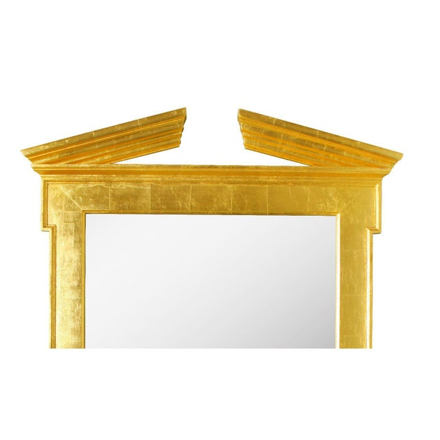 Traditional Pair of Modern Regency Style Giltwood Mirrors For Sale - Image 3 of 5