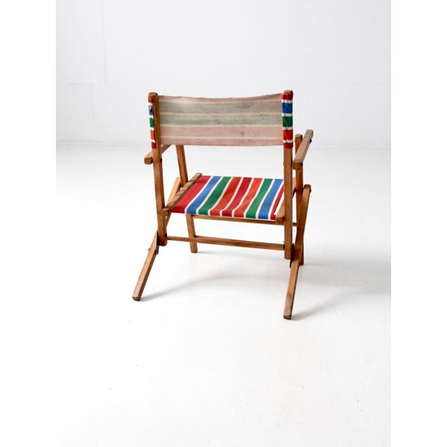 Children's Mid-Century Kid's Folding Chair For Sale - Image 3 of 10