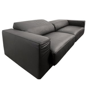 "Black Leather Sofa ""Kinto"" For Sale"