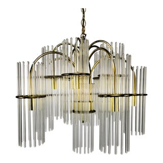 1970s Gaetano Sciolare for Lightolier Modern Chandelier For Sale