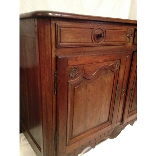 French 19th Century French Louis XV Walnut Buffet For Sale - Image 3 of 11