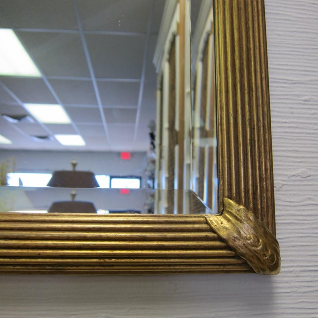 1980s Prince of Wales Gilded Ribbon Wood Carved Mirror For Sale - Image 5 of 10