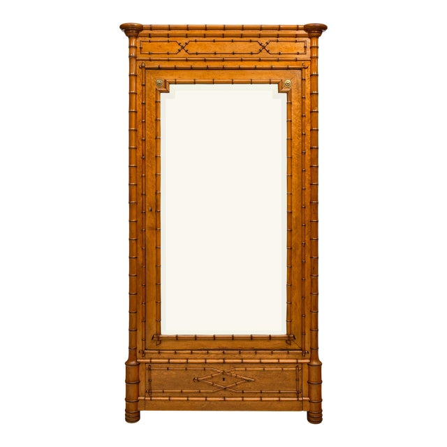 French Antique Bamboo Bonnetiere For Sale