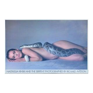 "Rare 1981 Poster ""Nastassja Kinski and the Serpent"" Photographed by Richard Avedon Signed"
