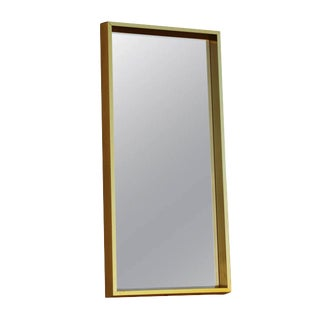 Rectangular Goldtone Mirror For Sale