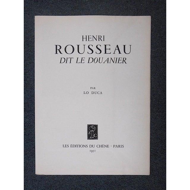 Vintage Ltd. Ed. Post-Impressionist/Surrealist Lithograph-Henri Rousseau (Fr. 1844-1910) For Sale - Image 4 of 9