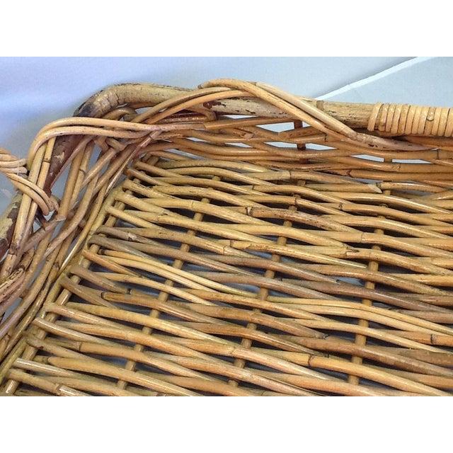 Vintage Decorative Rattan Tray - Image 6 of 8